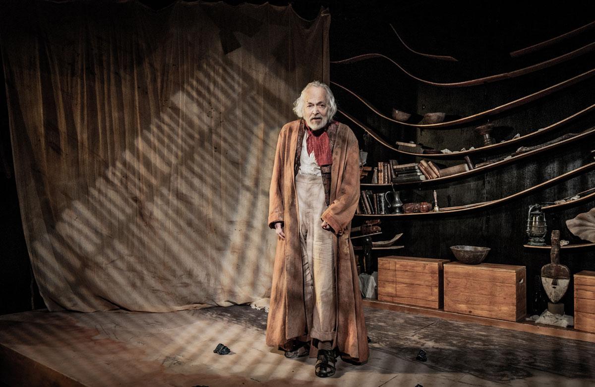 Michael Pennington in The Tempest at Jermyn Street Theatre. Photo: Robert Workman