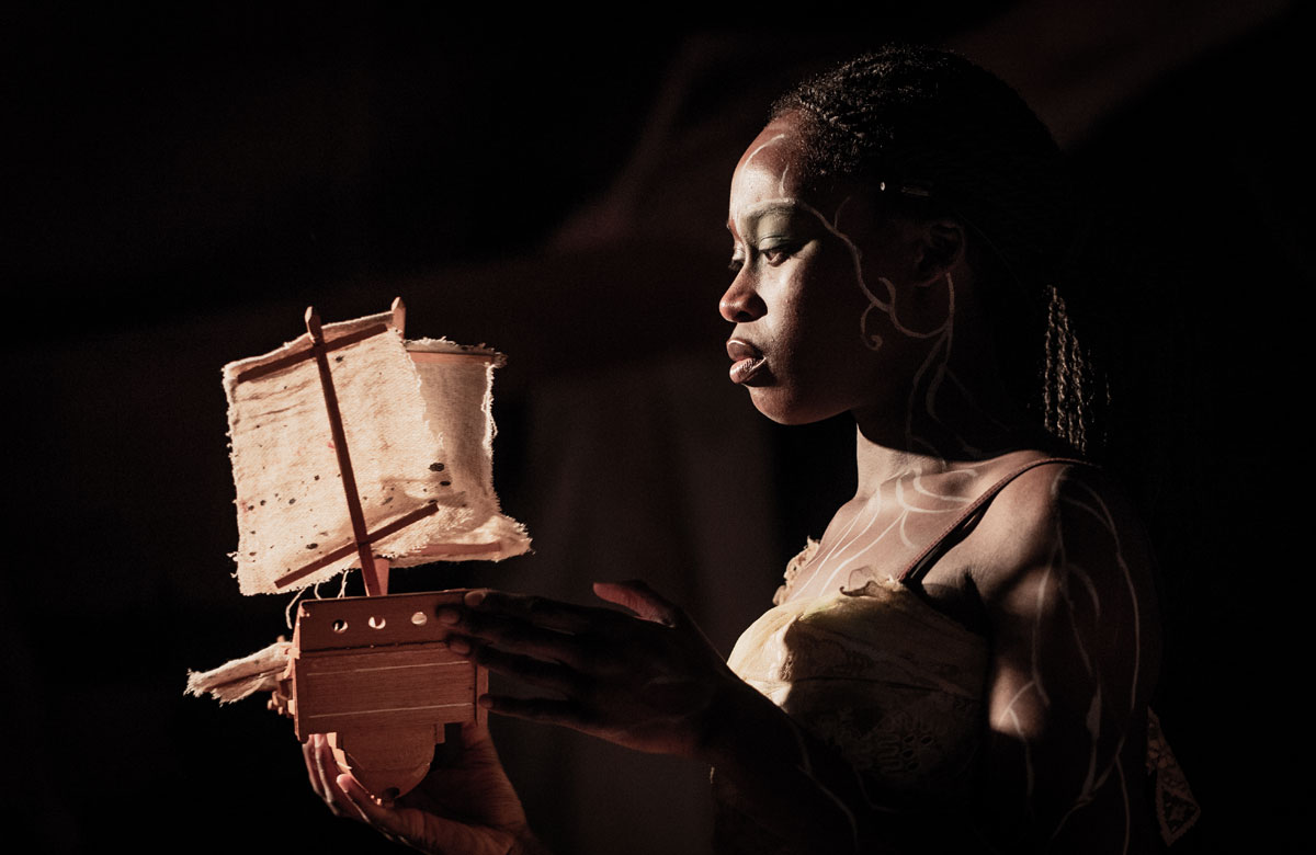 Whitney Kehinde in The Tempest at Jermyn Street Theatre. Photo: Robert Workman