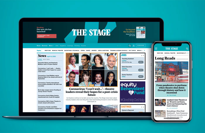 The Stage's new website