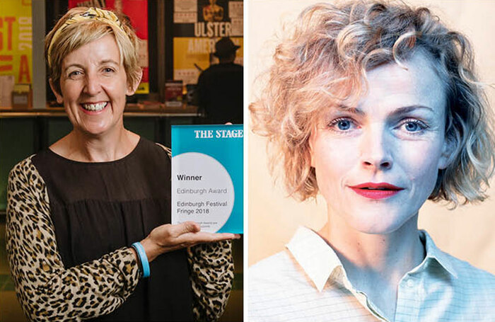 Julie Hesmondhalgh (pictured with her The Stage Edinburgh Award in 2018, photo Alex Brenner) and Maxine Peake