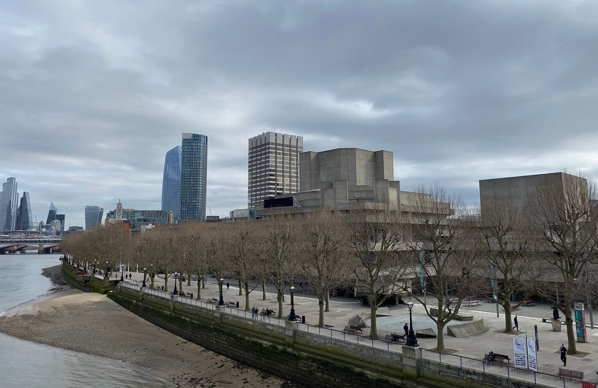 The deserted South Bank during lockdown. Photo: Alistair Smith