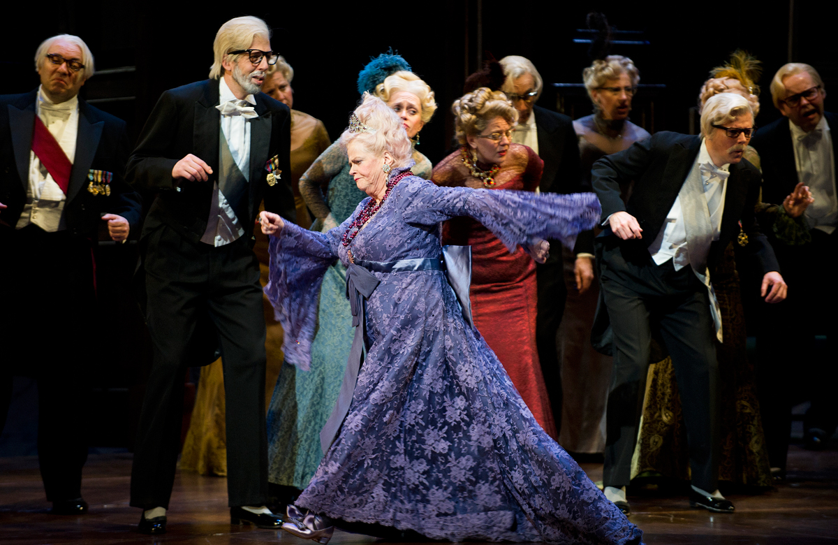 Ann Widdecombe in La Fille du Regiment by Donizetti at London's Royal Opera House, which opened on April 19, 2012
