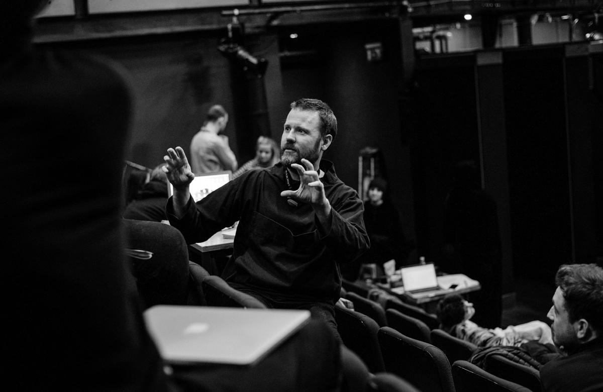 Artistic director of Vanishing Point Matthew Lenton in rehearsals for The Metamorphosis. Photo: Mihaela Bodlovic