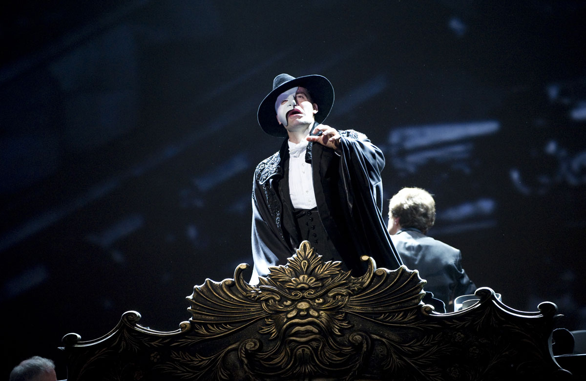Ramin Karimloo in The Phantom of the Opera. Photo courtesy of Really Useful Group