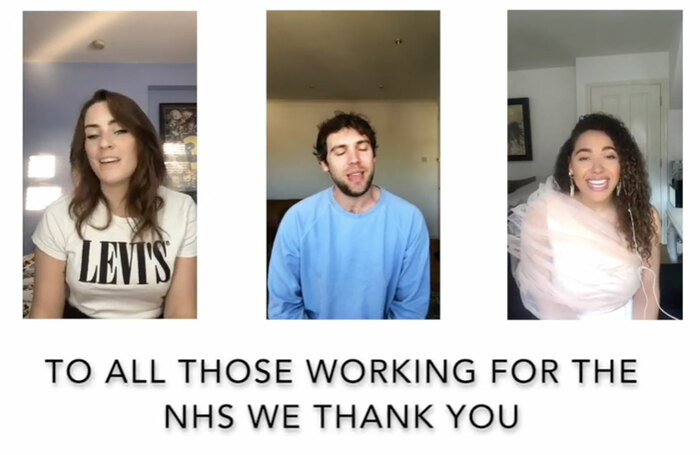 Cast members from the 20th anniversary production of Rent have created an online tribute to NHS staff