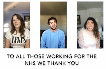 Watch now: Cast of Rent pay tribute to NHS during pandemic