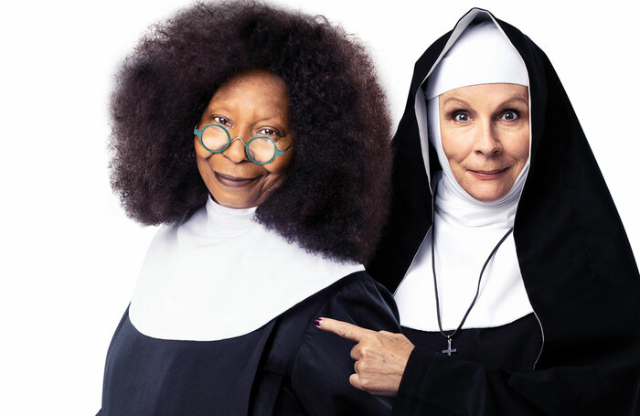 Whoopi Goldberg and Jennifer Saunders in a publicity shot for Sister Act. Photo: Matthew Murphy and Oliver Rosser