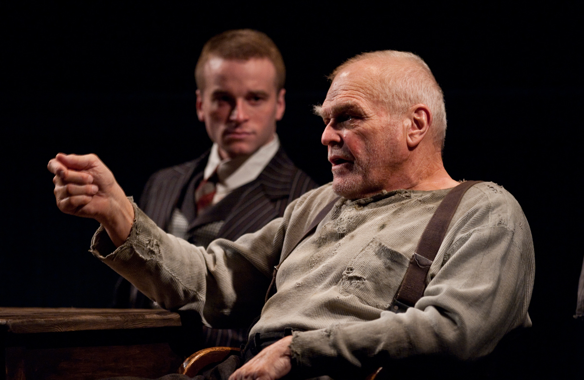 Brian Dennehy and Patrick Andrews in The Iceman Cometh at Chicago's Goodman Theatre. Photo: Liz Laur