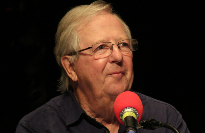 Tim Brooke-Taylor recording I'm Sorry I Haven't a Clue at Richmond Theatre in 2014. Photo: Ed g2s/Wikimedia