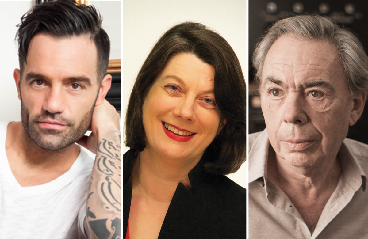 Ramin Karimloo, Sarah Crompton and Andrew Lloyd Webber (photo by Gregg Deiman)