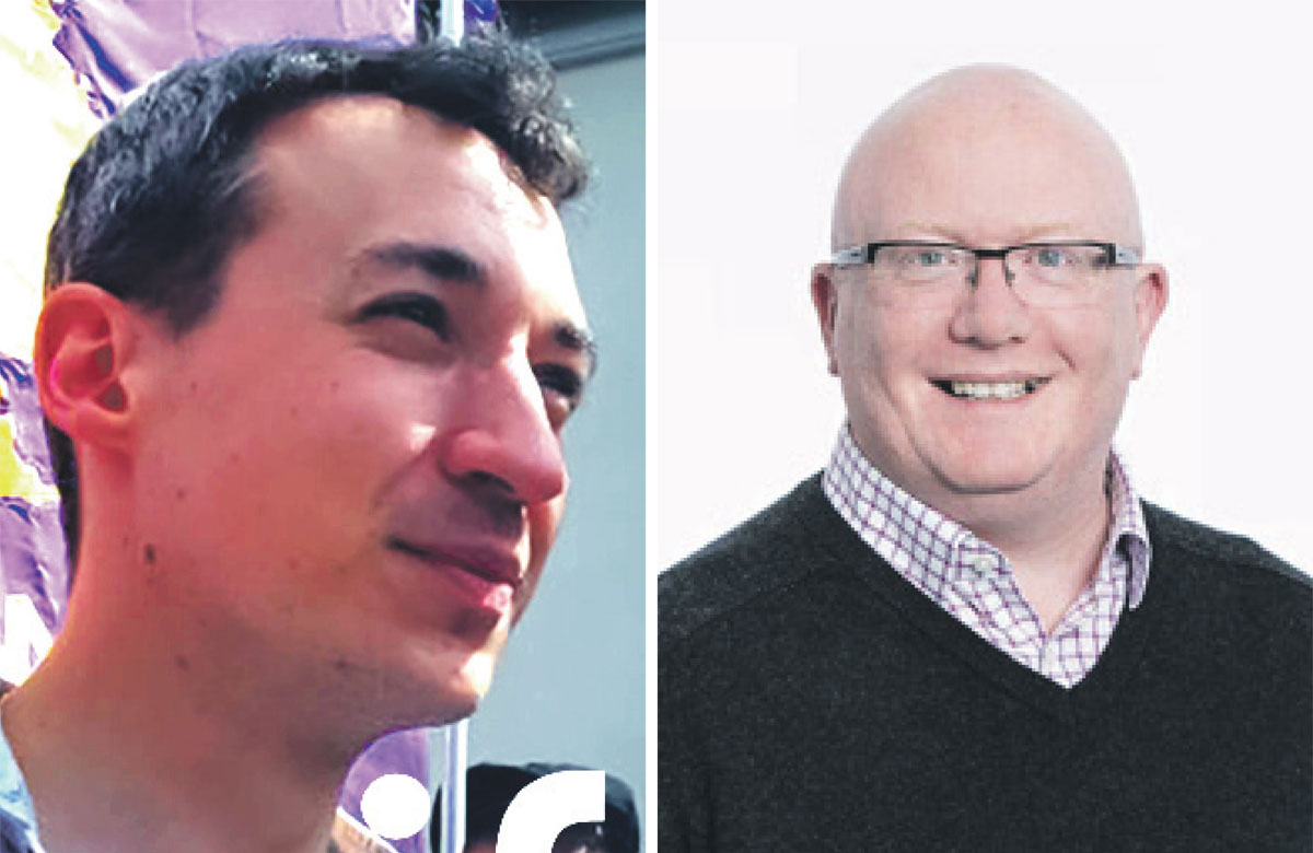 Paul Fleming and Simon Curtis, who are contending to be the next general secretary of Equity