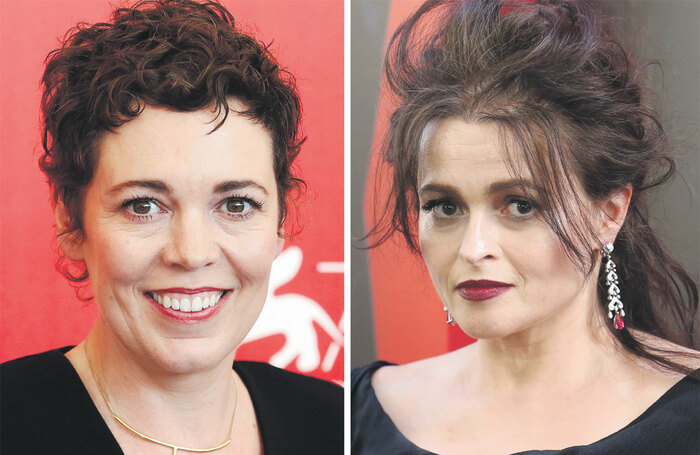 Olivia Colman and Helena Bonham Carter. Photos: Shutterstock