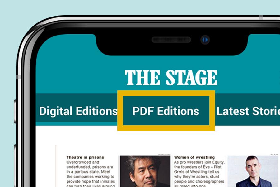 How do I view a Digital Edition as a PDF?