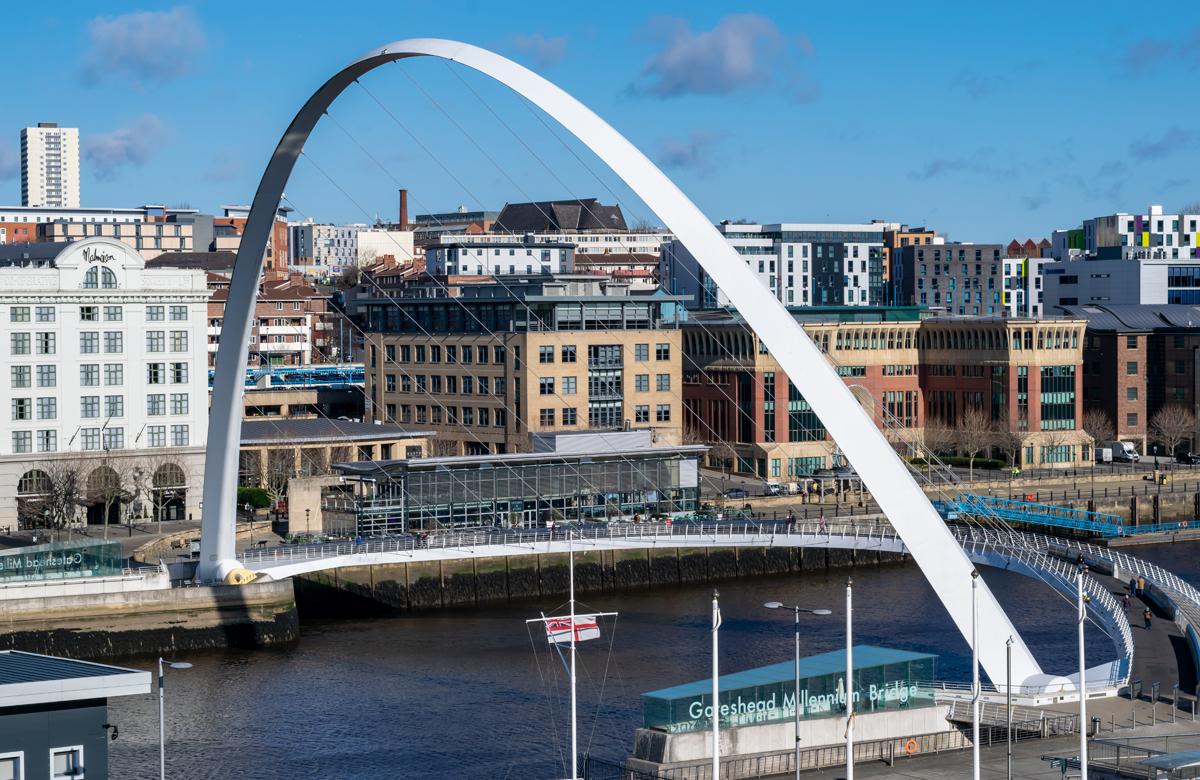 Gateshead quayside. Photo: Shutterstock