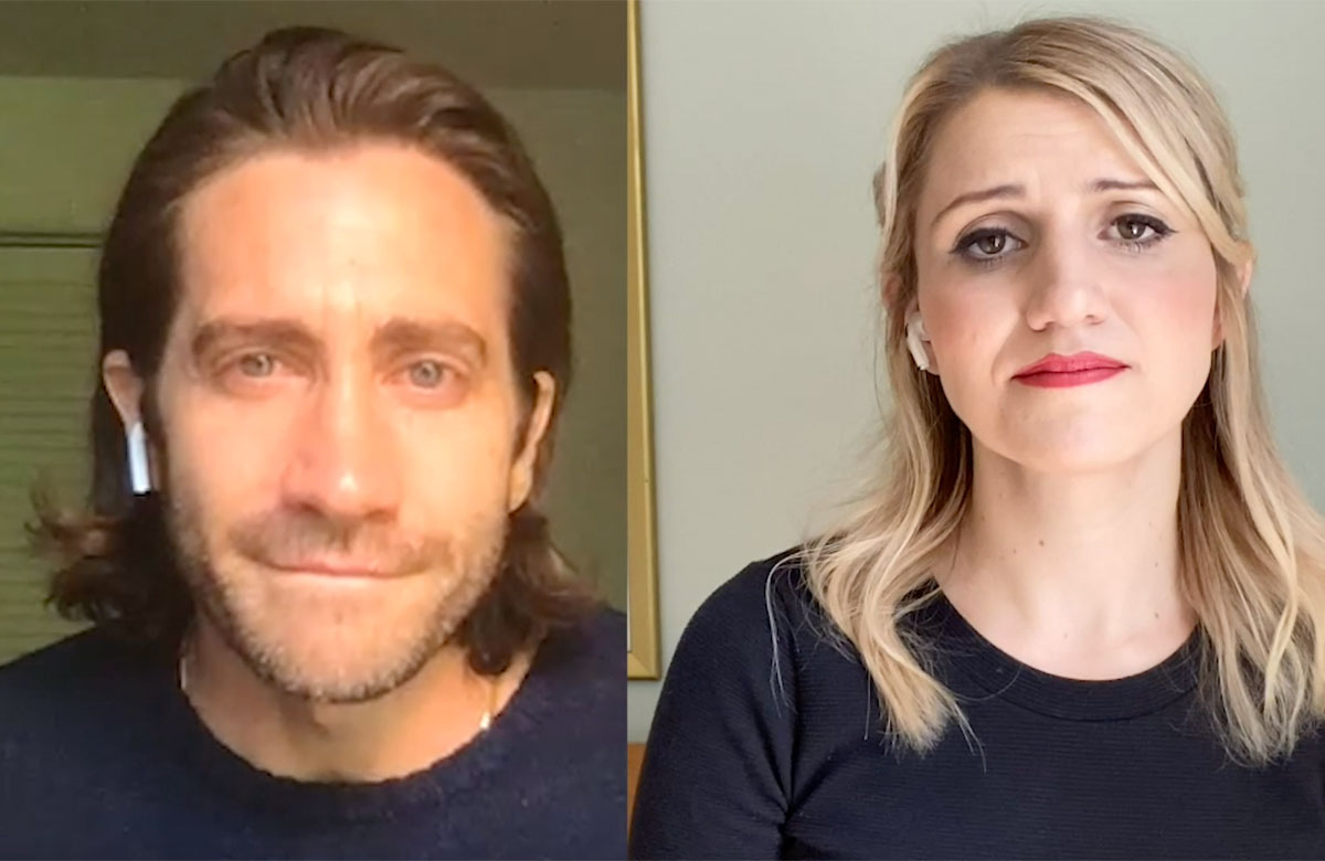 Jake Gyllenhaal and Annaleigh Ashford performing Move On from Sunday in the Park With George