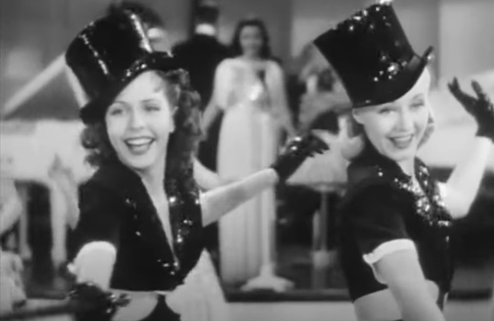 Ginger Rogers and Ann Miller in Stage Door. Photo: YouTube