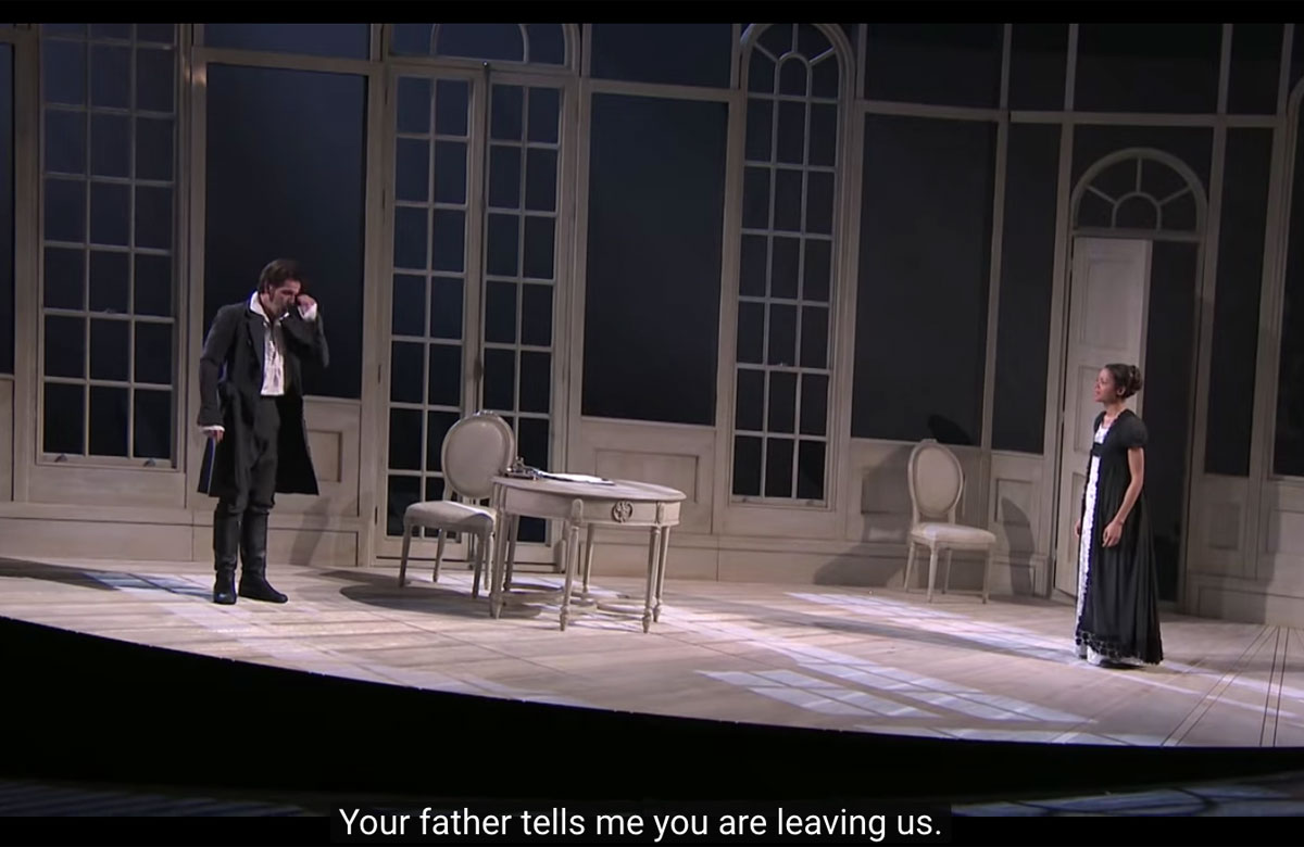 Stagetext praised companies such as the National Theatre for its accessible captions, seen here in the streamed broadcast of its 2011 production of Frankenstein, but warned other companies were failing to provide for D/deaf audiences