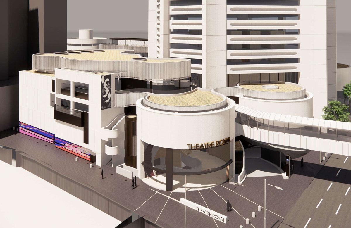 Artist's impression of Sydney's Theatre Royal post-refurbishment