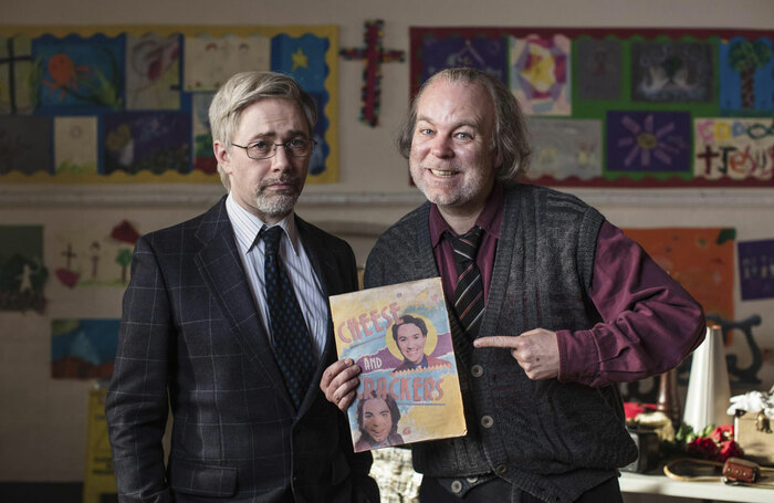 Reece Shearsmith and Steve Pemberton in Bernie Clifton's Dressing Room. Photo: BBC