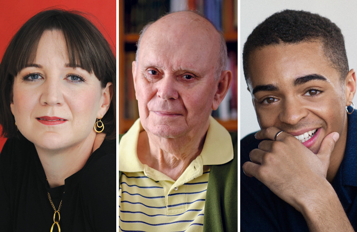 Josie Rourke, Alan Ayckbourn and Layton Williams. Photos: Hugo Glendinning/Tony Bartholomew