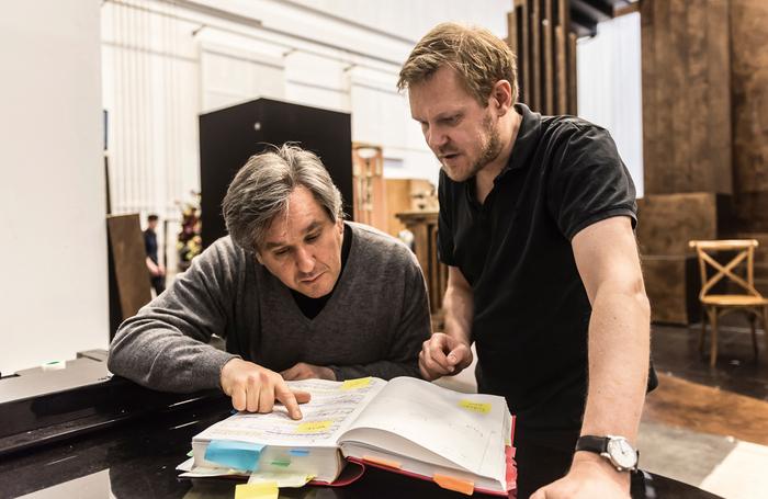 Antonio Pappano with Kasper Holten in rehearsals for Die Meistersinger von Nurnberg in 2017. Photo: Royal Opera House/Clive Barda