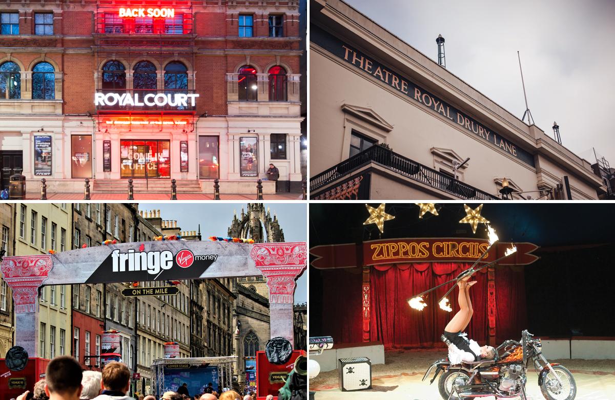 Londons Royal Court, Theatre Royal Drury Lane, Edinburgh Fringe, Zippos Circus. Photos: Robert Smael