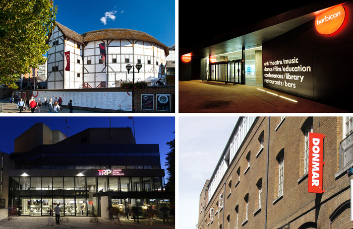 Shakespeare's Globe, the Barbican, Donmar Warehouse and Theatre Royal Plymouth are among the organisations warning of 'colossal' damage to the theatre sector