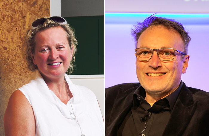 Graeae's Jenny Sealey and government disability champion Andrew Miller. Photos: Micha Theiner/Pamela Raith