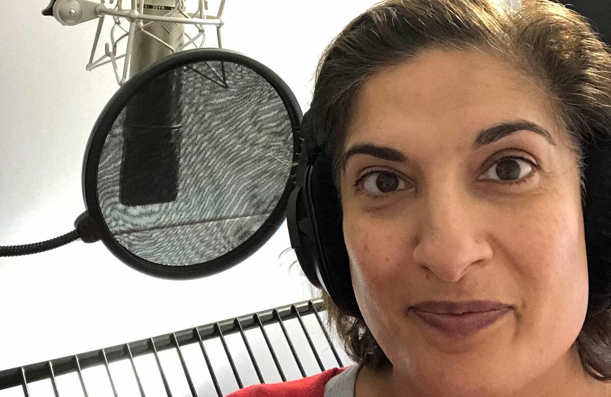 Mina Anwar recording The Understudy