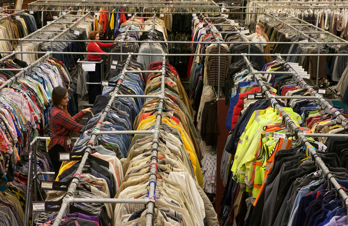 The warehouse of costume suppliers Angels, which is based in London