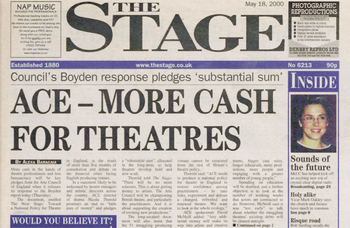 Arts Council cash pledge in wake of crisis report – 20 years ago in The Stage