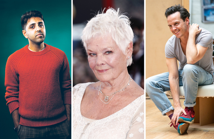 Vinay Patel, Judi Dench and Andrew Scott. Photos: Bronwen Sharp, Shutterstock, Manuel Harlan
