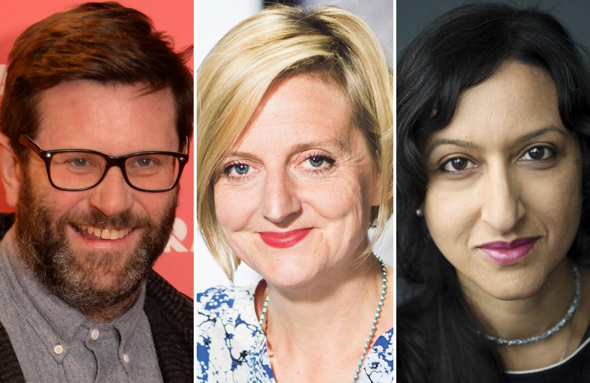 David Eldridge, Marianne Elliott and Arifa Akbar. Photos: Sharron Wallace/Helen Maybanks