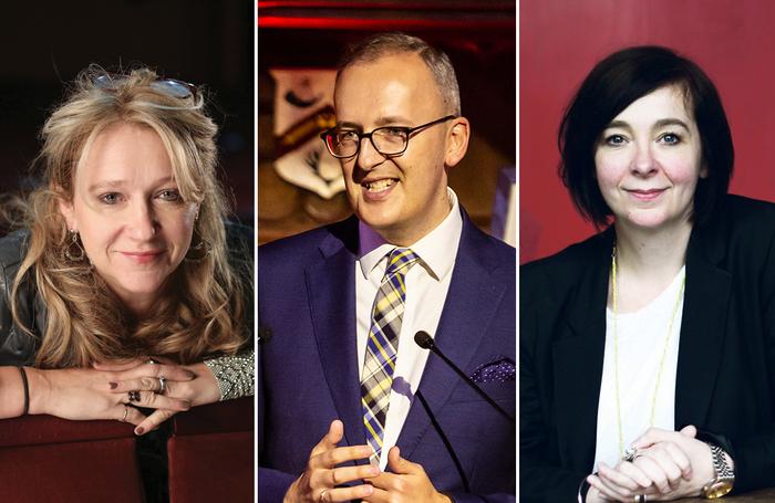 Sonia Friedman; Julia Bird; Vicky Featherstone Photos: Jason Alden/Pamela Raith/Rosie Hallam