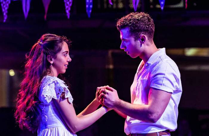 Gabriela Garcia and Andy Coxon in West Side Story at Manchester's Royal Exchange. Photo: Richard Davenport