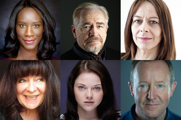 Performers in Scenes for Survival include (clockwise from top left): Moyo Akandé, Brian Cox, Kate Dickie, Jonathan Watson, Ashleigh More and Janey Godley