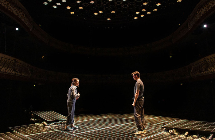 Claire Foy and Matt Smith in Lungs, which is being live streamed by London's Old Vic. Photo: Helen Maybanks
