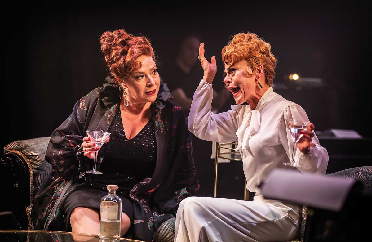 Harriet Thorpe and Tracie Bennett in Mame at Manchester's Hope Mill Theatre in 2019. Photo: Pamela Raith
