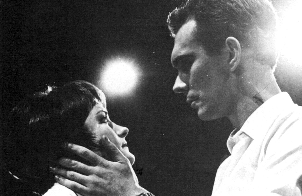 Heather Stoney and Alan Ayckbourn in Two for the Seesaw in 1964. Photo: Scarborough Theatre Trust