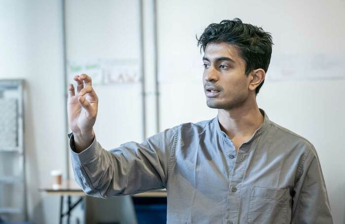 Atri Banerjee in rehearsals for Hobson's Choice at Manchester's Royal Exchange. Photo: Marc Brenner