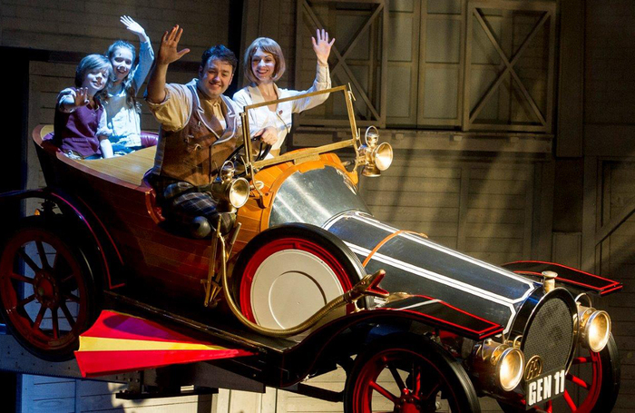 Jason Manford in Chitty Chitty Bang Bang during the touring stage show. Photo: Hansons