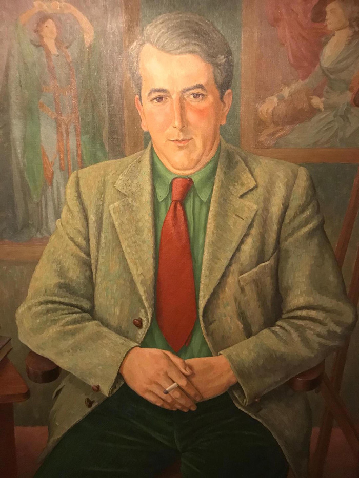 Portrait of Joseph Tomelty by Padraig H Marrinan, c.1943