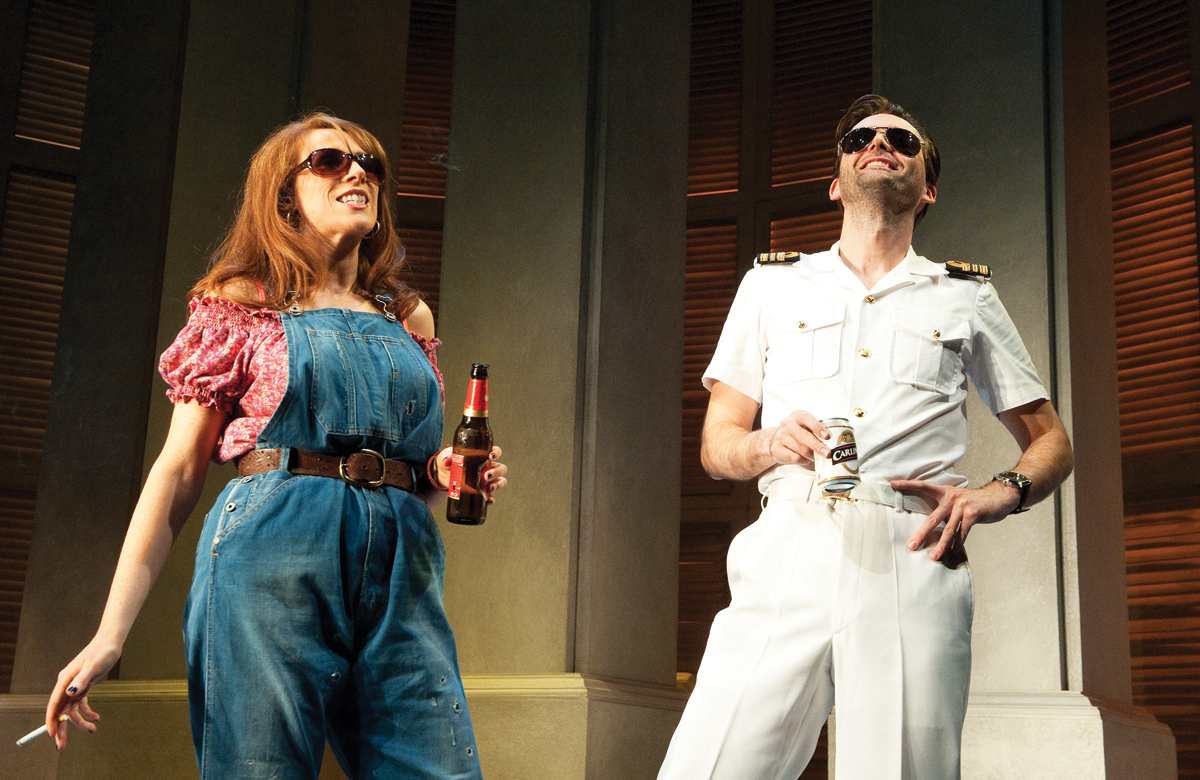 Catherine Tate and David Tennant in Much Ado About Nothing at Wyndhams Theatre. Photo: Tristram Kenton