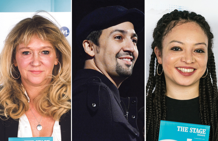 Sonia Friedman, Lin-Manuel Miranda, Lynette Linton. Photos: Alex Brenner/Howard Sherman