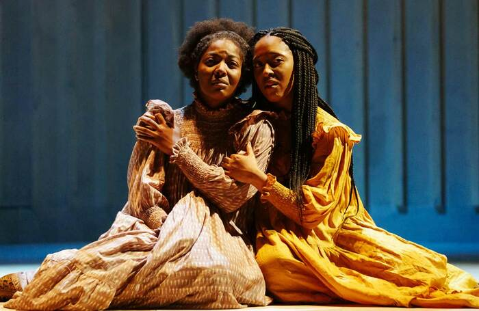 T'Shan Williams and Danielle Fiamanya in The Color Purple at Leicester Curve in 2019. Photo: Manuel Harlan