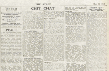 British Equity's first peacetime AGM – 75 years ago in The Stage