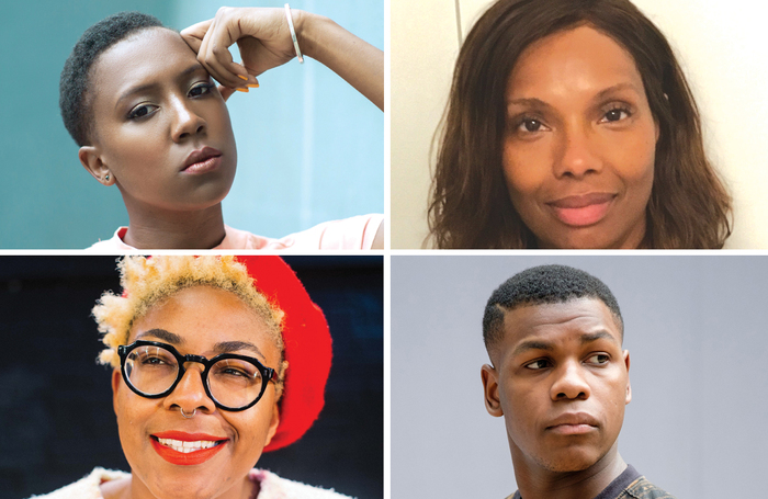 Clockwise from top left: Jade Anouka, Julie Spencer, John Boyega and Natalie Ibu. Photos: Ethan Spencer-Farquharson, Manuel Harlan, Mathieu Ajan