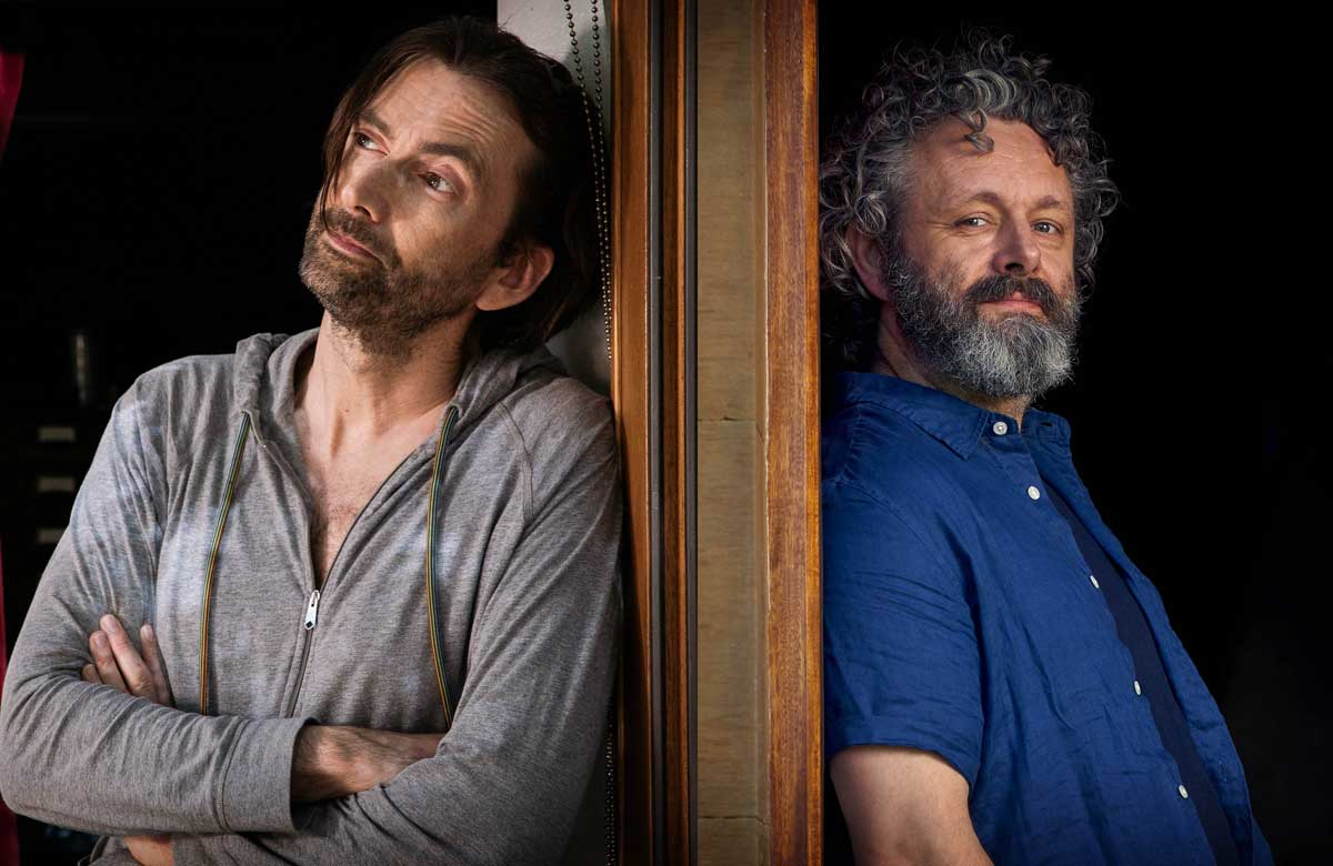 David Tennant and Michael Sheen in Staged