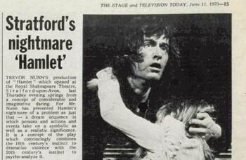 Trevor Nunn's 'daring' Hamlet – 50 years ago in The Stage