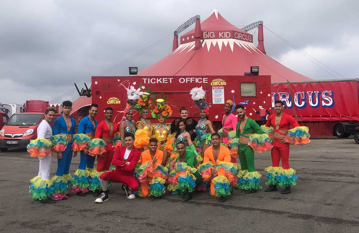 Company outside the big top in Morecambe. Photo: Big Kid Circus